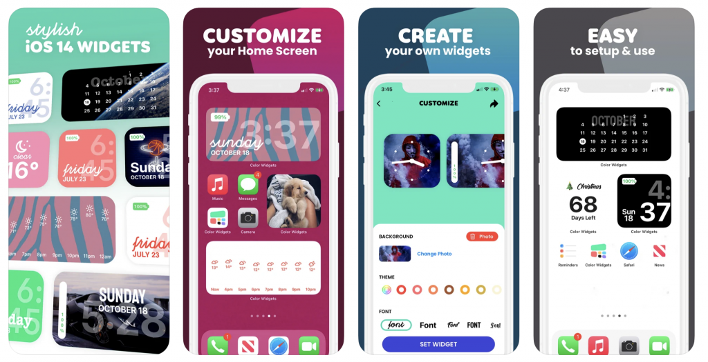 Color Widgets screens